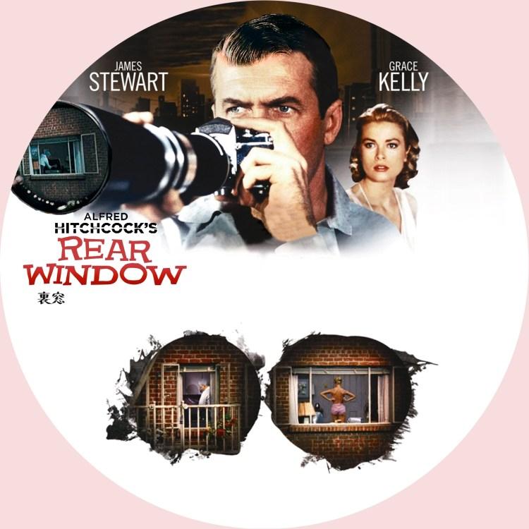 ヒッチコック監督「裏窓」のDVDラベルです