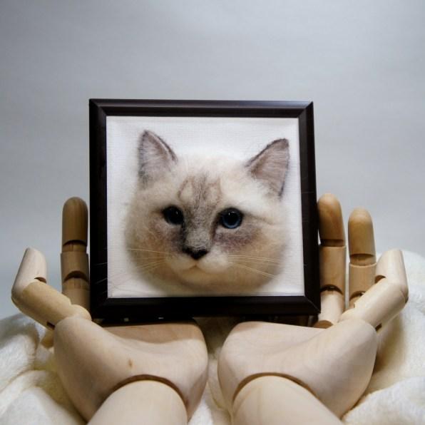 羊毛フェルトのネコさん