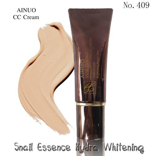 Ainuo No.409 snail essence hydra whitening CC cream