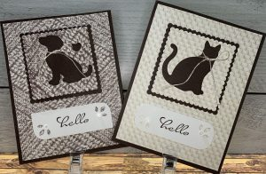 Stampin' UP!s Dog and Cat Punch with In Good Taste DSP