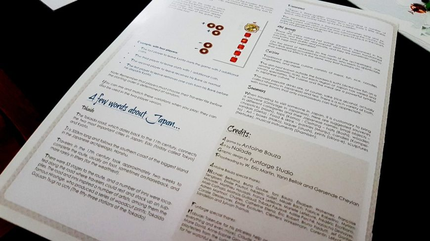 Notes about Japan from the manual