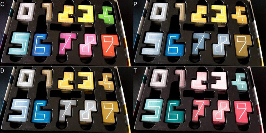 Colour blind digits