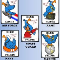Blue Falcon card game on Kickstarter