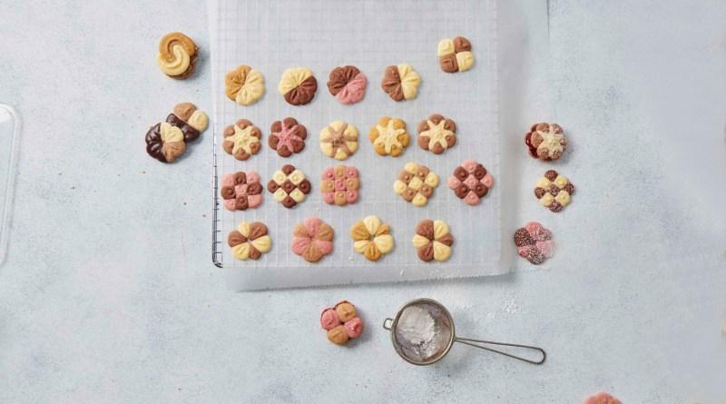 Betty Bossy Weltneuheit zweifarbige Cookie PRess
