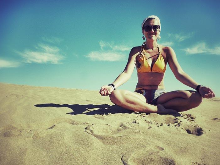 Ein guter Ort für Yoga, das Cabo Polonio ©Doris Neubauer