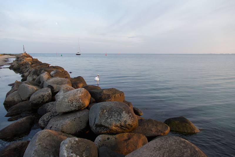 Op het strand in Fehmarn
