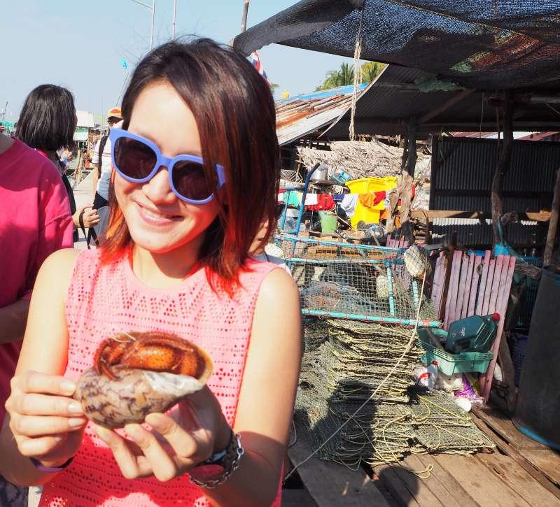 Krabbe gefangen