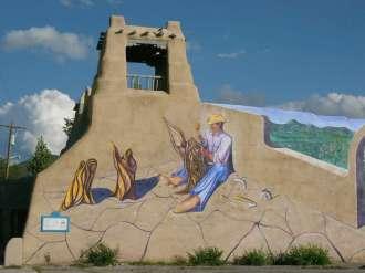 Wandmalerei in Taos