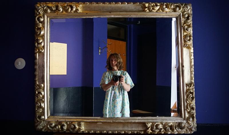 Selfie mit Blau