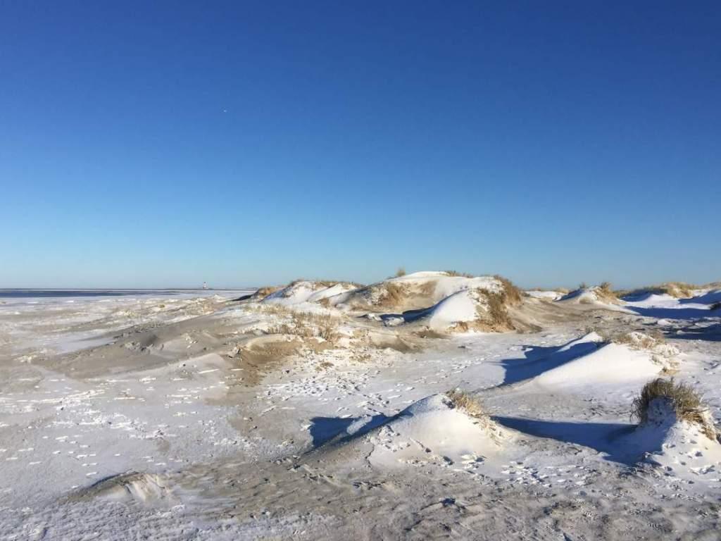 Dünen im Schnee