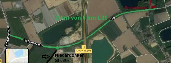 L30 und Niederdonker Straße