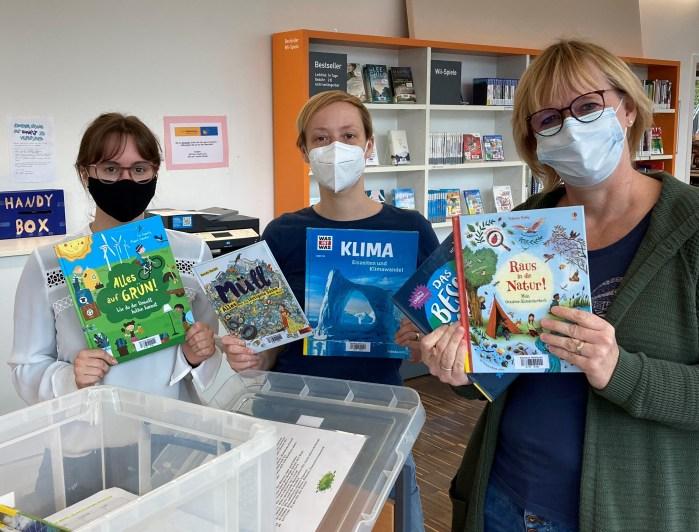 Team der Stadtbibliothek in Meerbusch - Die Bücherkiste Umwelt für junge Umweltschützer