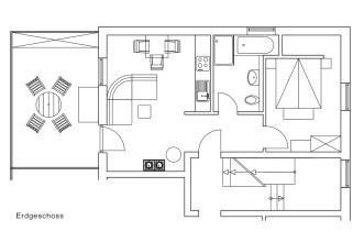 Grundriss Wattleuchten Dachgeschoss