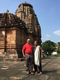 Mummy and Daddy outside the 11th century Rajarani Temple