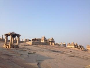Virupaksha temple sits at the bottom of Hemakuta hill