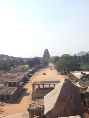 Looking down toward the temple