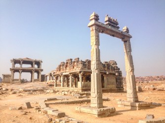 Hiking through Hampi ruins