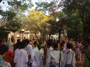 My department celebrating Holi!