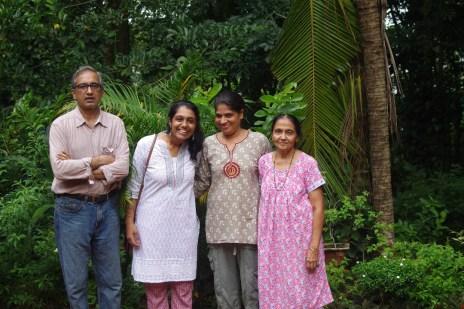 With John, Sheba, and John's mom