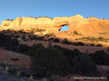 """We could see the """"north window"""" arch as we drove up to the trail"""