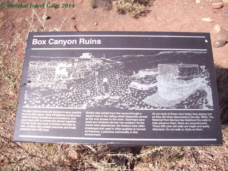 They have ruins from people who used to stay in the canyon in the 1100's