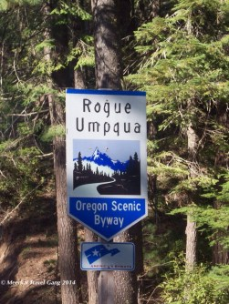 Scenic byway in Oregon
