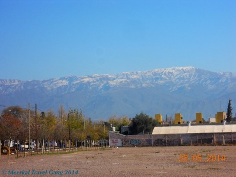 From most places in Mendoza we could see the Andes loom...