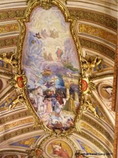Ceiling art in the Inglesia Cathedral, Córdoba.