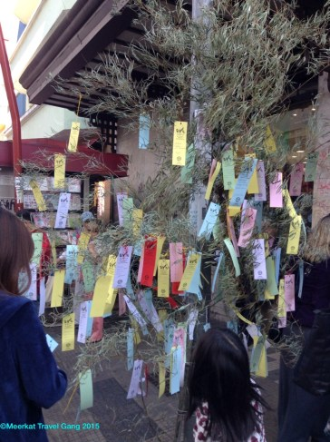 There were a number of these prayer trees lining the Liberdade walkway.