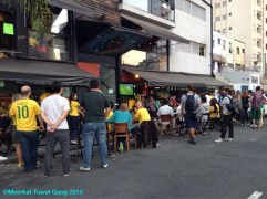 During the World Cup, the bars, pubs and hangout places must have made a ton of money! Places were crowded to bursting twice a day at least.