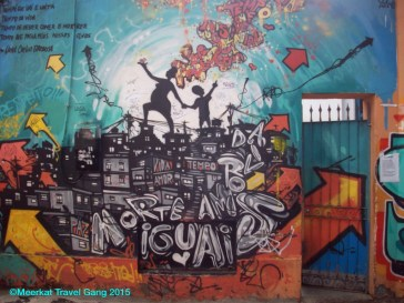 In the wee bit dodgy alleyway, the art and graffiti was still impressive