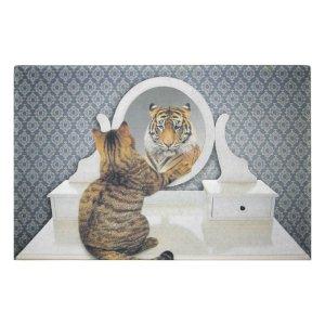 Deurmat humor kat tijger
