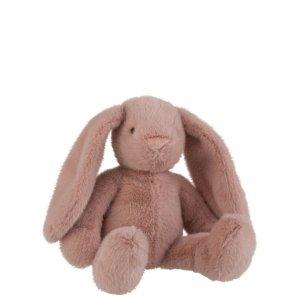 Knuffel konijn roze 40cm J-line - pluche knuffels babykamer