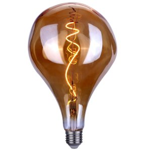 LED lamp XXL fancy spiraal 6W amber