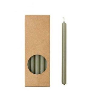 Potloodkaarsjes groen 17cm eucalyptus