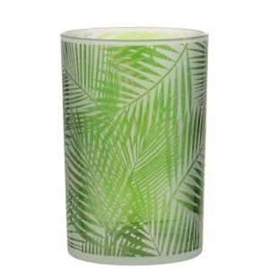 Waxinelichthouder tropical groen 18cm