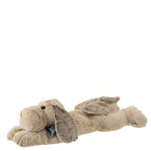 knuffel hond liggend bruin 14cm