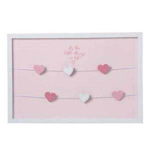 Fotokader roze hartjes 60x40cm