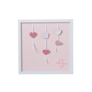 Fotokader roze hartjes 40x40cm