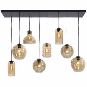 Hanglamp amber Fantasy 8 lichts