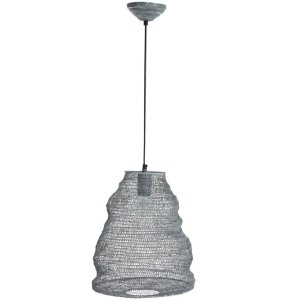 Hanglamp grijs gaas 30cm