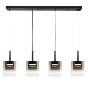Hanglamp zwart Salerno 4 lichts