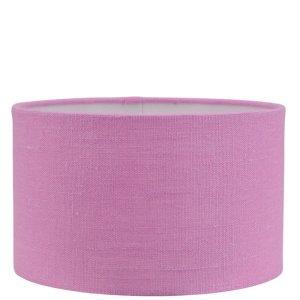 Lampenkap roze Linnen cilinder GLN50