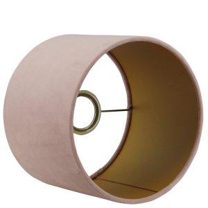 Lampenkap roze cilinder San remo goud detail