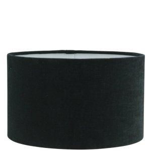 Lampenkap zwart katoen cilinder TLI0652