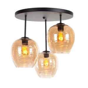 Plafondlamp amber Fantasy apple 3 lichts