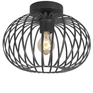 Plafondlamp zwart Bolato 30cm
