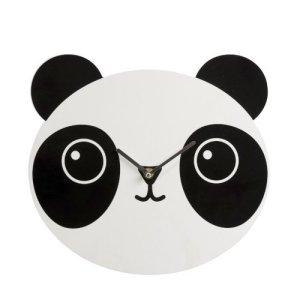 Wandklok panda zwart-wit 30cm