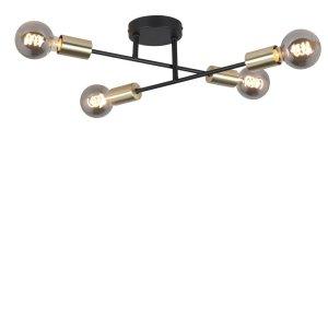 plafondlamp zwart Sticks 4 lichts