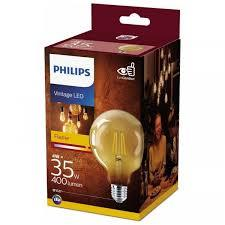 LED lamp Globe 4W goud 93mm